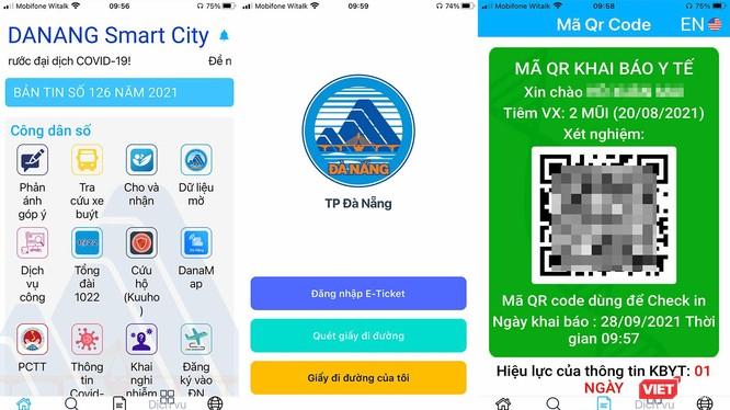 Các ứng dụng tích hợp dữ liệu tiêm vaccine và cấp mã QRCode cho người dân TP Đà Nẵng