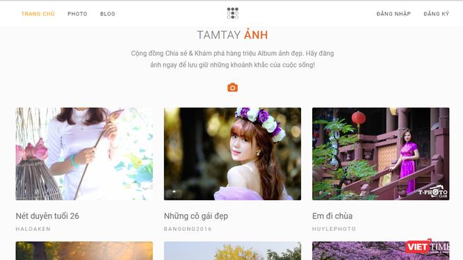 Giao diện trang mạngTamtay.vn. Ảnh chụp màn hình