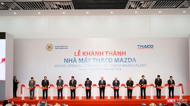 Nhà máy Thaco Mazda hiện mới hoàn thành giai đoạn 1 với năng lực sản xuất 50.000/năm và sẽ đạt được mục tiêu 100.000 xe/năm vào năm 2019
