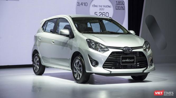 Ngoại hình của Toyota Wigo trông hiện đại và thể thao hơn so với một số đối thủ trong cùng phân khúc. (Ảnh: Ngô Minh)