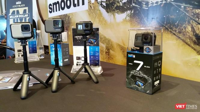 Ba phiên bản của dòng sản phẩm GoPro HERO7 thế hệ mới. (Ảnh: Ngô Minh)