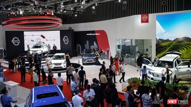 Toàn cảnh gian hàng Nissan Việt Nam tại triển lãm VMS 2018 (Ảnh: Ngô Minh)