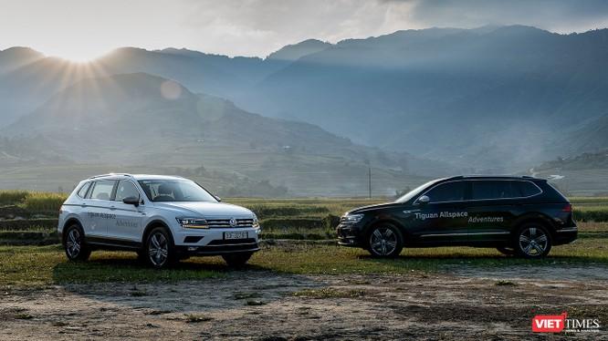 Với chiều dài 4.701 mm, VW Tiguan Allspace 2018 trở thành mẫu xe lớn nhất phân khúc SUV nhỏ gọn 7 chỗ. (Ảnh: Ngô Minh)