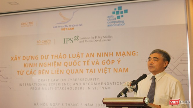 TS Nguyễn Minh Hồng - Thứ trưởng Bộ Thông tin và Truyền thông, Chủ tịch Hội Truyền thông số Việt Nam phát biểu khai mạc