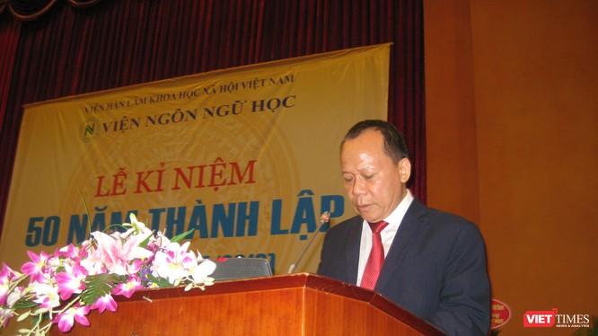 GS TS Nguyễn Văn Hiệp - Viện trưởng Viện Ngôn ngữ học tại lễ kỷ niệm