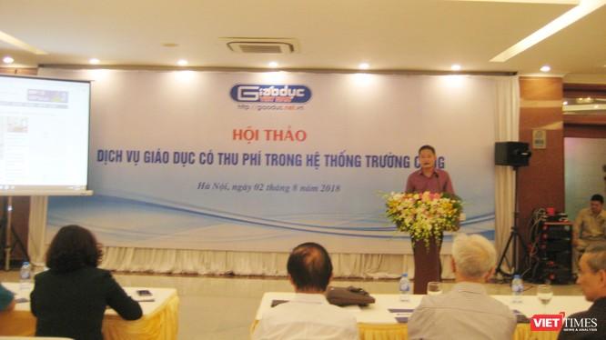 Ông Đào Ngọc Tước - Phó tổng biên tập báo điện tử Giáo dục Việt Nam phát biểu khai mạc hội thảo