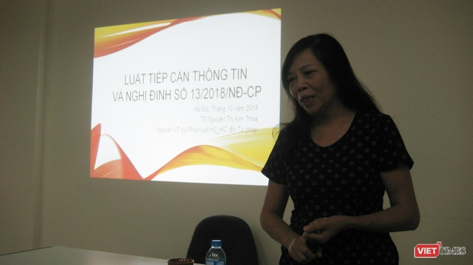 TS Nguyễn Thị Kim Thoa - Nguyên Vụ trưởng Vụ Pháp luật hình sự - hành chính Bộ Tư pháp