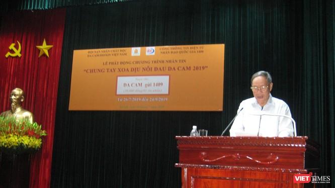 Thượng tướng Nguyễn Văn Rinh - Chủ tịch Hội Nạn nhân Chất độc Da cam/Dioxin Việt Nam phát động chương trình