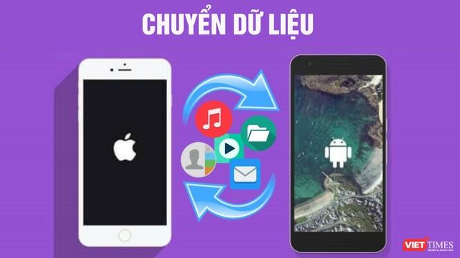 Có rất nhiều phần mềm cho phép chuyển dữ liệu từ điện thoại Android sang iOS và ngược lại