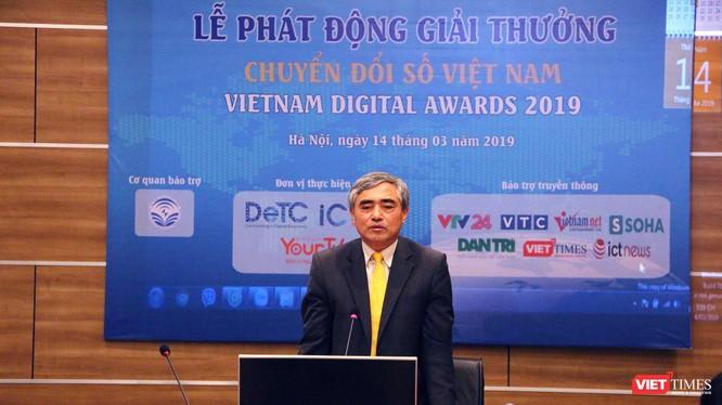 ông Nguyễn Minh Hồng, Chủ tịch Hội Truyền thông Số Việt Nam tại lễ phát động Giải thưởng Vietnam Digital Awards 2019