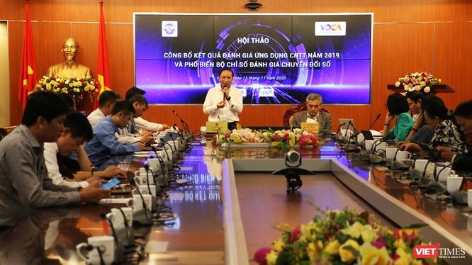 Hội thảo Công bố chỉ số Chuyển đổi số do Bộ Thông tin và Truyền thông phối hợp với Hội Truyền thông số Việt Nam tổ chức