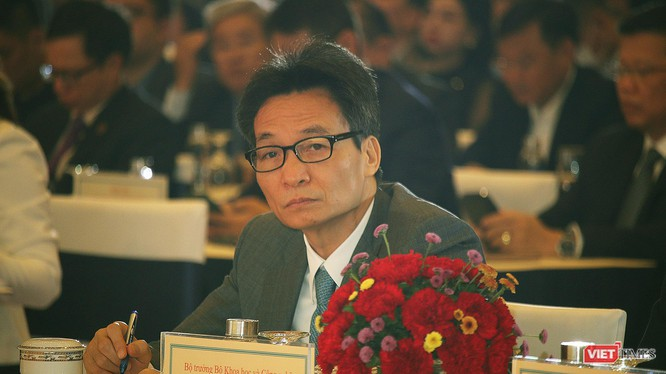 Phó Thủ tướng Vũ Đức Đam dự Diễn đàn quốc gia về Phát triển Doanh nghiệp Công nghệ số Việt Nam 2020. (ảnh: Đăng Khoa)
