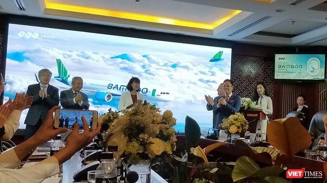 Lễ ra mắt Bộ nhận diện thương hiệu Bamboo Airways. (Ảnh: X.T)