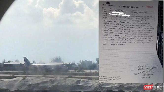 Báo cáo đầu tiên của Cơ trưởng Cuevas sau khi VN 7344 hạ cánh nhầm.