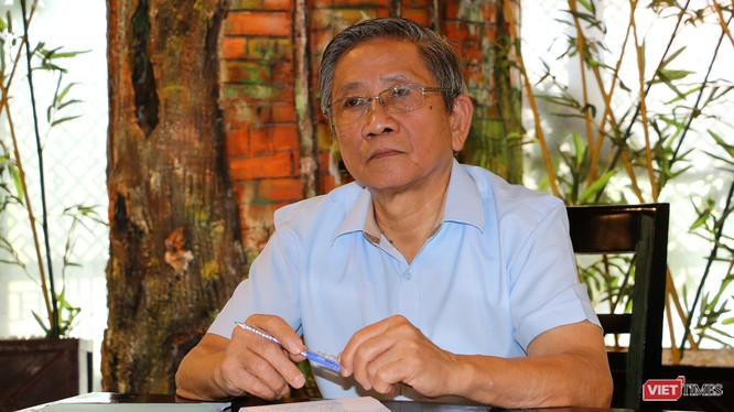 GS Nguyễn Minh Thuyết, Tổng Chủ biên Chương trình giáo dục phổ thông (ảnh: Đăng Khoa)
