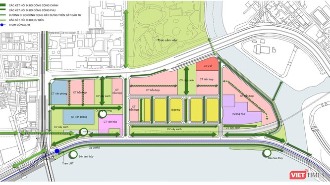 Phân tích khung đô thị của dự án Ba Son Sài Gòn.