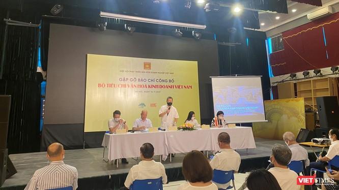 Toàn cảnh buổi công bố Bộ tiêu chí văn hóa kinh doanh Việt Nam (Ảnh: HB)