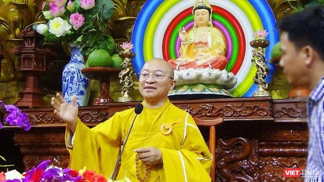 Thượng tọa Thích Nhật Từ - trụ trì chùa Giác Ngộ, quận 5 (TP.HCM)