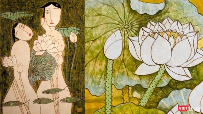"""""""Những nàng thơ"""" của họa sĩ Bùi Trọng Dư tại triển lãm """"Sen ba miền"""""""
