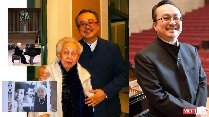 NSND Đặng Thái Sơn và mẹ (Ảnh tư liệu gia đình do NSND Đặng Thái Sơn cung cấp)