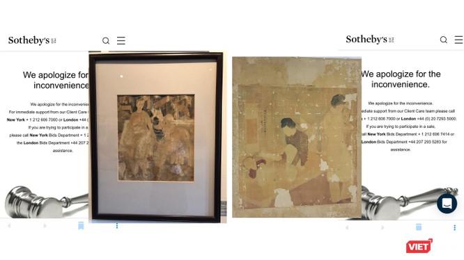 Sau khi có bằng chứng về các tranh gốc, Sotheby's đã hạ hai bức tranh ghi tên danh họa gây lùm xùm ồn ào những ngày qua