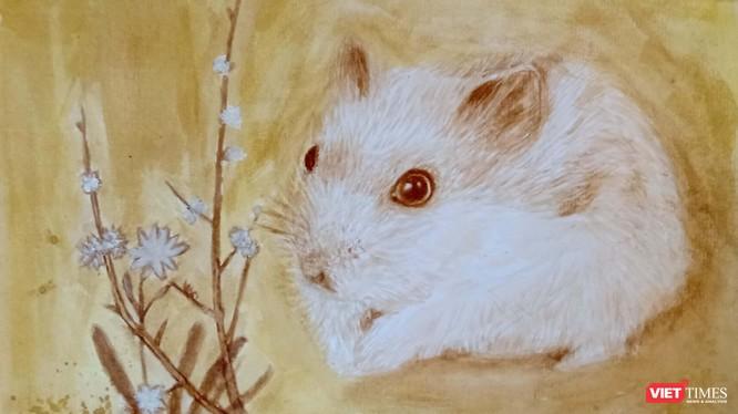 Tranh chuột đón Tết Canh Tý 2020 được vẽ bằng màu tự nhiên