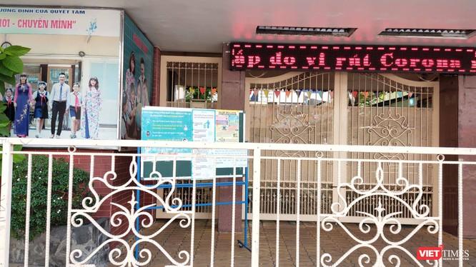 Trường tiểu học Lương Định Của (Quận 3) cho học sinh nghỉ hết ngày 16/2 phòng chống virus Corona (Ảnh: Hòa Bình)