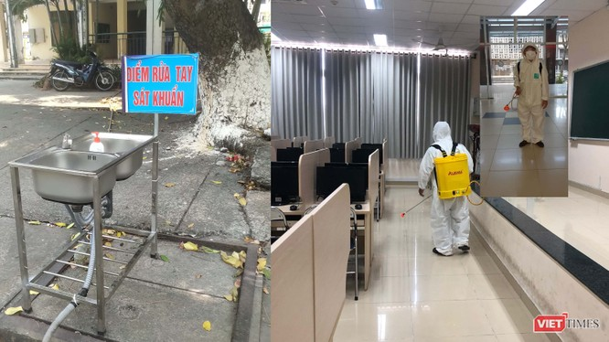 Công tác phòng dịch COVID-19 tại các trường Đại học trên địa bàn TP.HCM (Ảnh: Hòa Bình)
