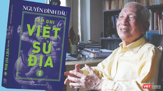 Nhà nghiên cứu, học giả Nguyễn Đình Đầu giới thiệu sách đúng dịp tròn 100 tuổi (Ảnh: NXB Trẻ cung cấp)