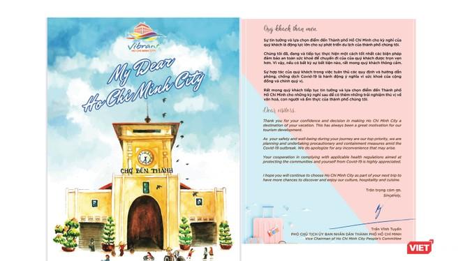 Toàn văn bức thư của Phó Chủ tịch UBND TP.HCM Trần Vĩnh Tuyến gửi du khách (Ảnh chụp lại bức thư)