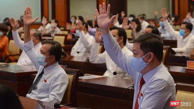Đại biểu tham dự Kỳ họp bất thường Hội đồng nhân dân TP.HCM (Ảnh: TTBC)