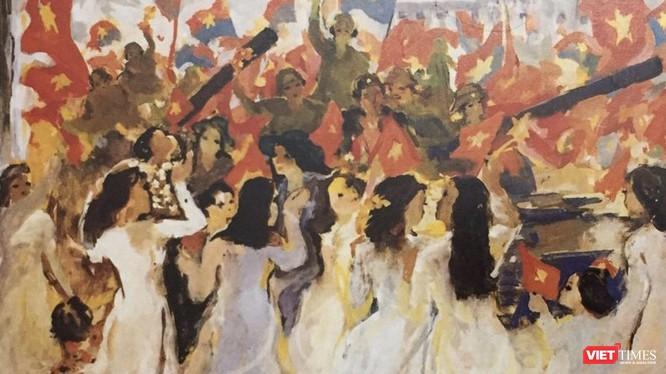 """Một phần bức tranh """"Nắng tháng năm"""" của họa sĩ Quách Phong (Ảnh: BTMT)"""