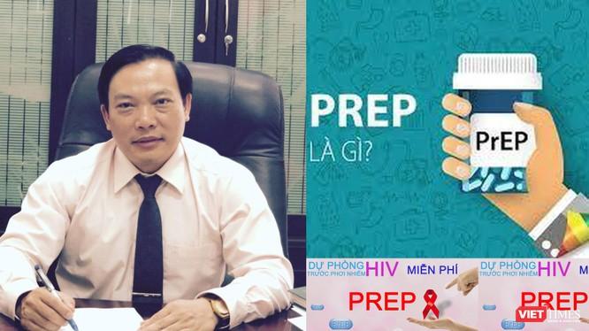 TS.BS Hoàng Đình Cảnh - Phó Cục trưởng Cục Phòng, chống HIV/AIDS nói về việc sử dụng thuốc điều trị dự phòng HIV đúng cách giảm đến hơn 90% nguy cơ lây nhiễm (Ảnh: HB ghép)