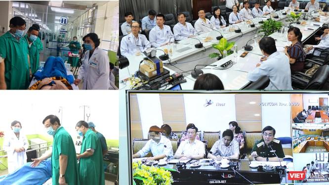 Cuộc hội chẩn online quy mô toàn quốc cuối cùng cho Bệnh nhân 91 trước khi về Anh (Ảnh: Hòa Bình ghép)