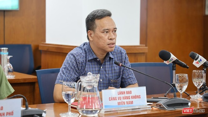 Ông Đoàn Quốc Bình, Phó Giám đốc Cảng vụ Hàng không miền Nam. Ảnh: Khang Minh