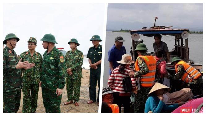 Công tác chống bão số 9 tiến hành quyết liệt tại các tỉnh miền Trung (Ảnh: Hoà Bình ghép)