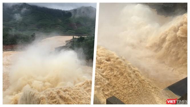Mưa quá lớn, thuỷ điện Sông Tranh 2 và Đak Mi 4 xả lũ xuống hạ du Quảng Nam (Ảnh: HB ghép)