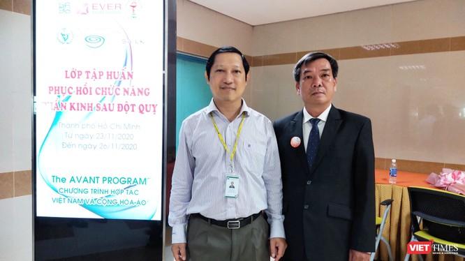 BS Lê Văn Tuấn và DS Lâm Thanh Hải tại chương trình tập huấn ngày 23/11(Ảnh: Hoà Bình)