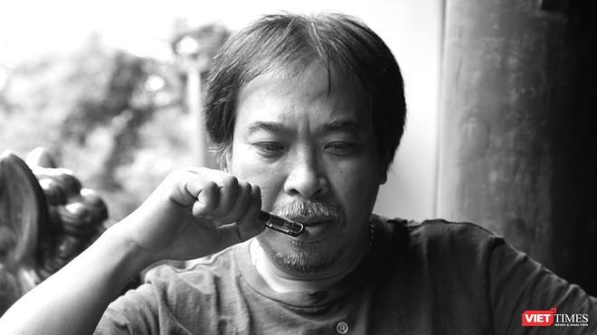 Nhà thơ Nguyễn Quang Thiều (Ảnh: Nguyễn Đình Toán)