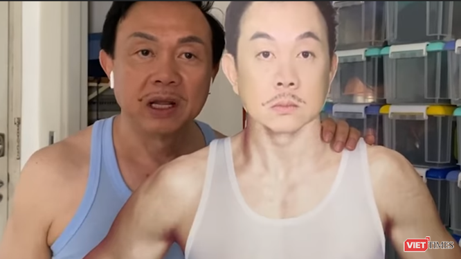 Hình chụp nghệ sĩ Chí Tài trong video tập luyện ở cầu thang bộ (Nguồn: FBNV)
