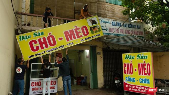 Tổ chức FOUR PAWS đóng cửa nhà hàng thịt mèo, giải cứu nhiều động vật (Ảnh: Thái Bình)