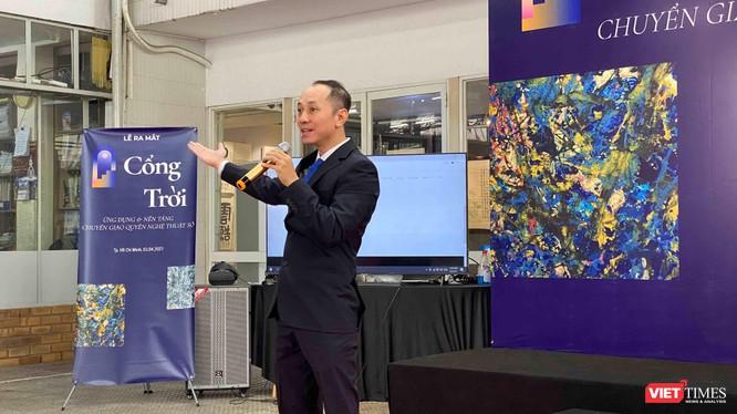 Người sáng lập dự án Cổng trời, ông Phạm Toàn Thắng trong buổi giới thiệu với báo chí sáng 3/4 (Ảnh: HB)