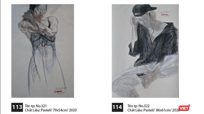 """Tác phẩm trưng bày trong triển lãm """"Nét và Hình"""" của hoạ sĩ Nguyễn Dương Đính (Ảnh: Họa sĩ cung cấp)"""
