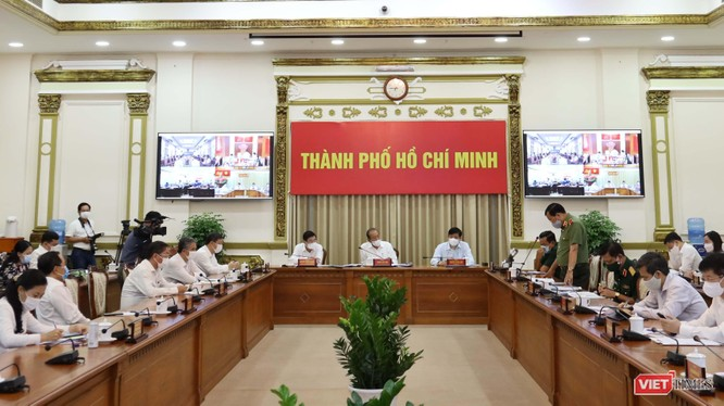TP.HCM họp Ban Chỉ đạo phòng, chống COVID-19, xác định tinh thần bình tĩnh chuẩn bị phương án ứng phó với tình huống có 5.000 ca nhiễm (Ảnh: TTBC)