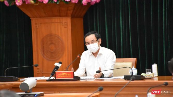 Bí thư Thành uỷ TP.HCM Nguyễn Văn Nên lưu ý về test nhanh kháng nguyên - Ảnh: TTBC