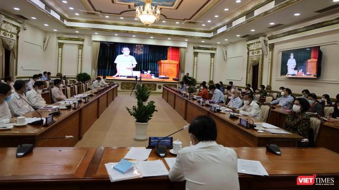 Toàn cảnh cuộc họp Ban Chỉ đạo phòng, chống dịch quốc gia với TP.HCM, đánh giá lại 7 ngày giãn cách xã hội toàn thành phố - Ảnh: Huyền Mai