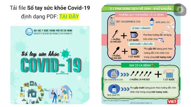 Sổ tay sức khỏe COVID-19 do nhóm biên soạn Giảng viên khoa YTCC - Đại học Y Dược TP.HCM thực hiện