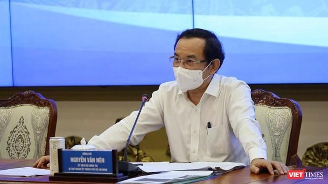 Ủy viên Bộ Chính trị, Bí thư Thành ủy TPHCM Nguyễn Văn Nên - Ảnh: TTBC