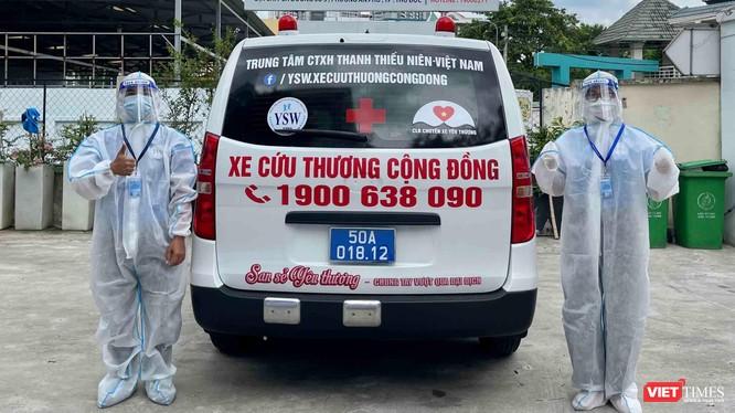 Xe cứu thương cộng đồng san sẻ yêu thương – Chung tay vượt qua đại dịch covid-19