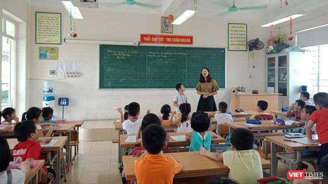 Một giờ học tại Trường tiểu học Chu Văn An (Hoàng Mai, Hà Nội)